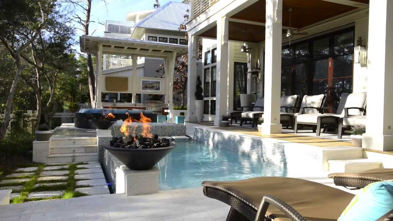 Cox Pools - Rim Overflow Spa, Glass Tile, Negative Edge ...