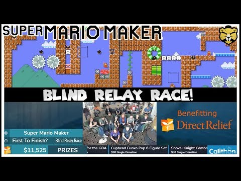 Super Mario Maker Blind Relay Race For Charity At Calithon!