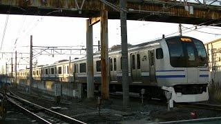 JR横須賀線武蔵小杉-新川崎の踏切を通過するE217系Y-6編成&E231系U525編成 U69編成