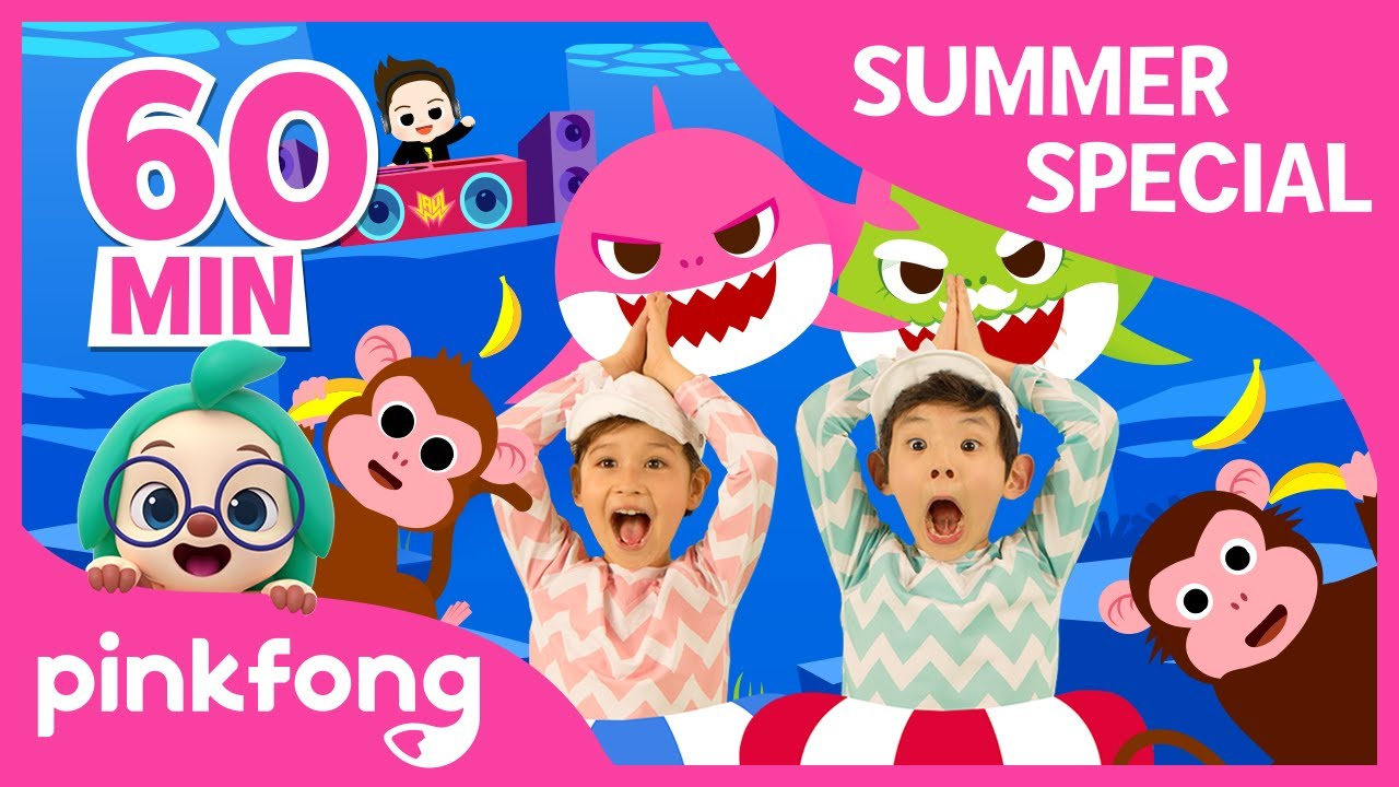 Baby Shark Dance And More Summer Songs Special Compilation Pinkfong Songs For Children Youtube