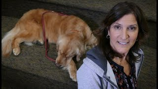 "Maria Gifford and 'Django"" in Read to a Dog Program"