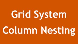 [ Twitter Bootstrap 3 In Arabic ] #10 - Grid System Column Nesting