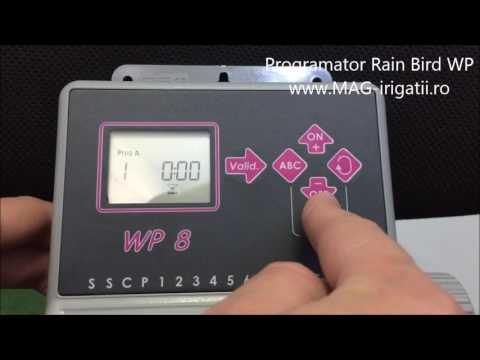 Programator Rain Bird WP 9V Instructiuni Utilizare Si Programare