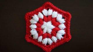 Объемный шестиугольный мотив крючком / Crochet hexagon