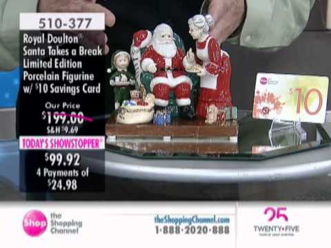 Royal Doulton Santa Takes a Break Figurine with $10 Savings Card at The Shopping Channel 510377 from YouTube · Duration:  6 minutes 9 seconds