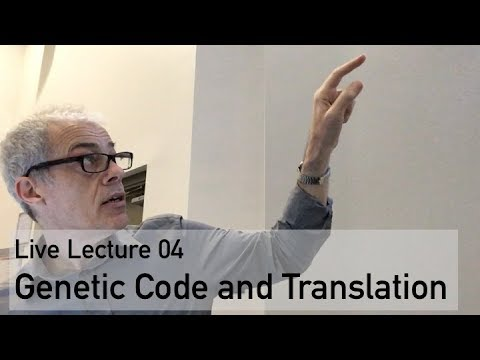 Live Lecture 04 Genetic Code and Translation