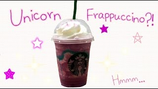 UNICORN FRAPPUCCINO | A Quick Starbucks Review Feat. Sydney ♡