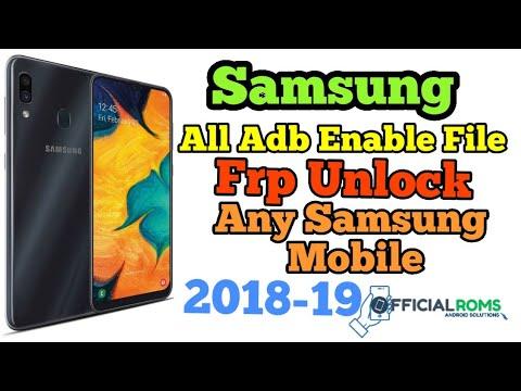 Samsung All sboot adb File & Frp Unlock File Working All Model 2019