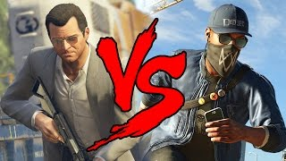 GTA 5 VS WATCH DOGS 2 [BR]