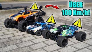 Wer knackt die 100 Km/h? - RC SPEEDTEST (Traxxas Slash, XMAXX und E-Revo)