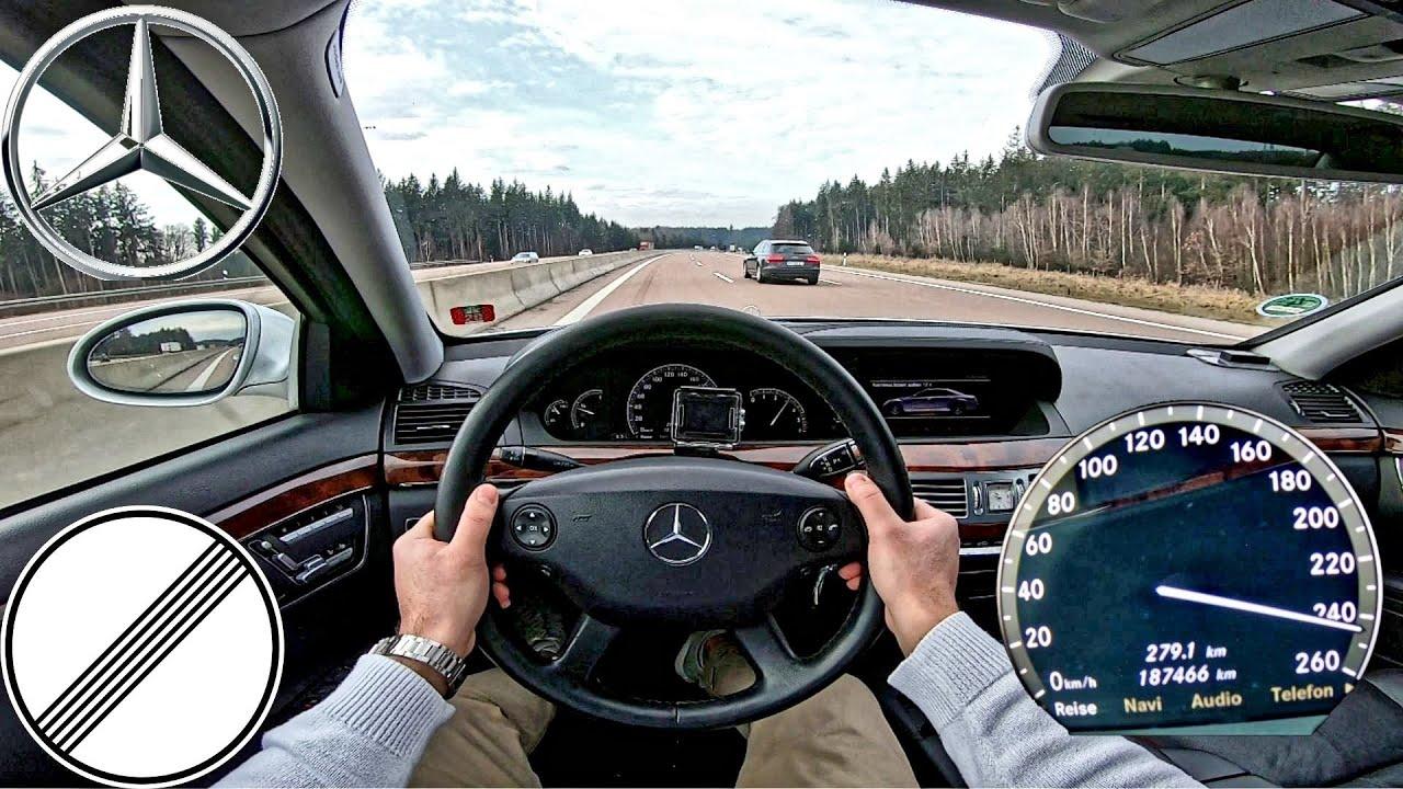 Mercedes Benz S320 CDI 235 HP   Top Speed German Autobahn   0-100 km/h & 100-200km/h