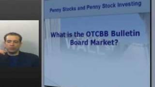 """#13, Penny Stocks and Penny Stock Investing. What is """"OTCBB"""", Bulletin Board Market?"""