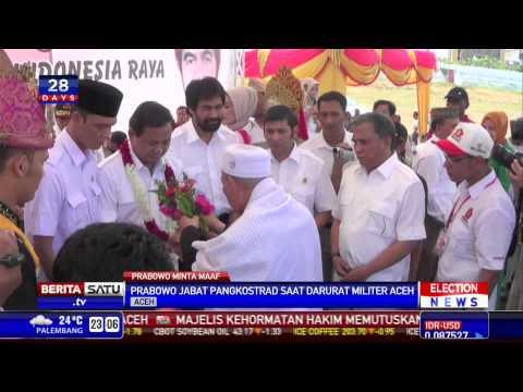 Prabowo Meminta Maaf Kepada Warga Aceh