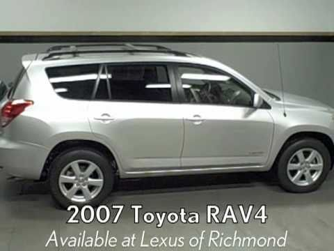 2007 toyota rav4 limited available at lexus of richmond youtube. Black Bedroom Furniture Sets. Home Design Ideas