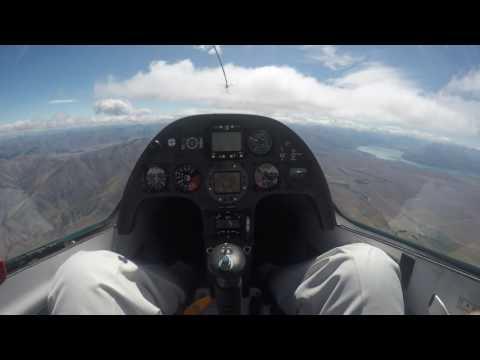 Glide Omarama Feb.15 2016 NZ  by japanese visitor