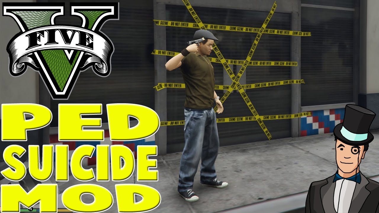 GTA V PC - PED SUICIDE MOD - GTA 5 PC Mods