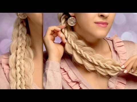 Cute and easy back to school hairstyles for long hair: stacked side swept braids tutorial