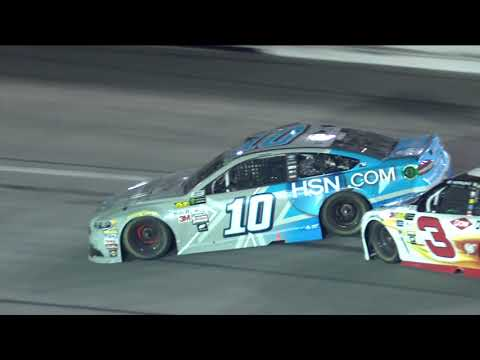 Danica Patrick spins after contact with Austin Dillon
