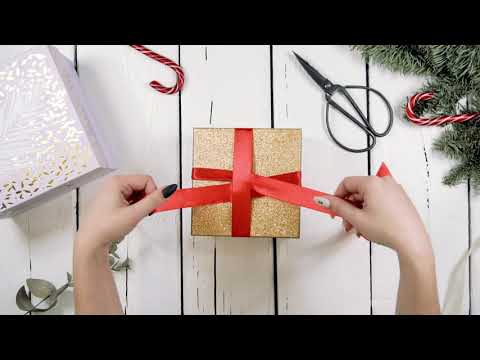 Как завязать бант. Как завязать бант на подарке. Красивая упаковка  с бантиком