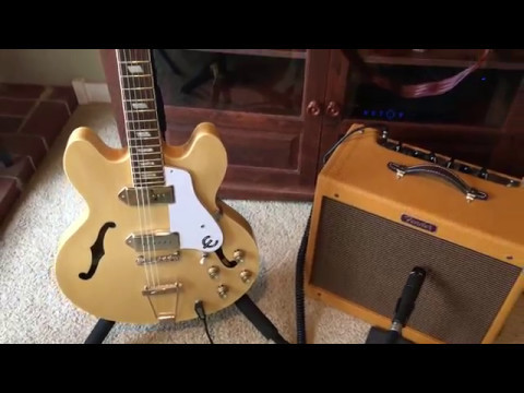 Great Blues Tone With Epiphone Casino p90 and Blues Jr Demo