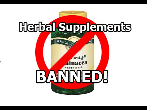 Herbal Supplements BANNED from GNC, Walmart, Target, and Walgreens!