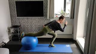 Stability Ball lunges (front and side)