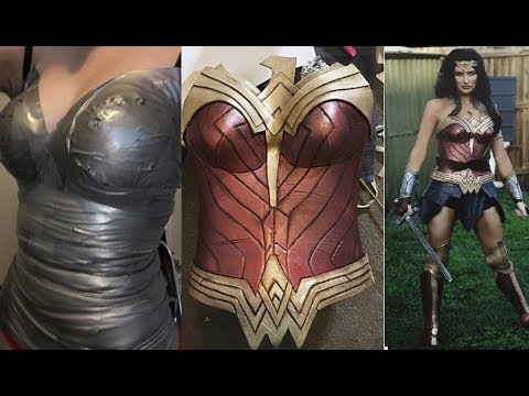 A Real Wonder Woman Making Costume From A Cheap Yoga Mat And Duct Tape, | Muhammad Waqas
