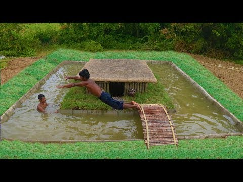 Unbelievable! Build Swimming Pool Around Secret Underground House