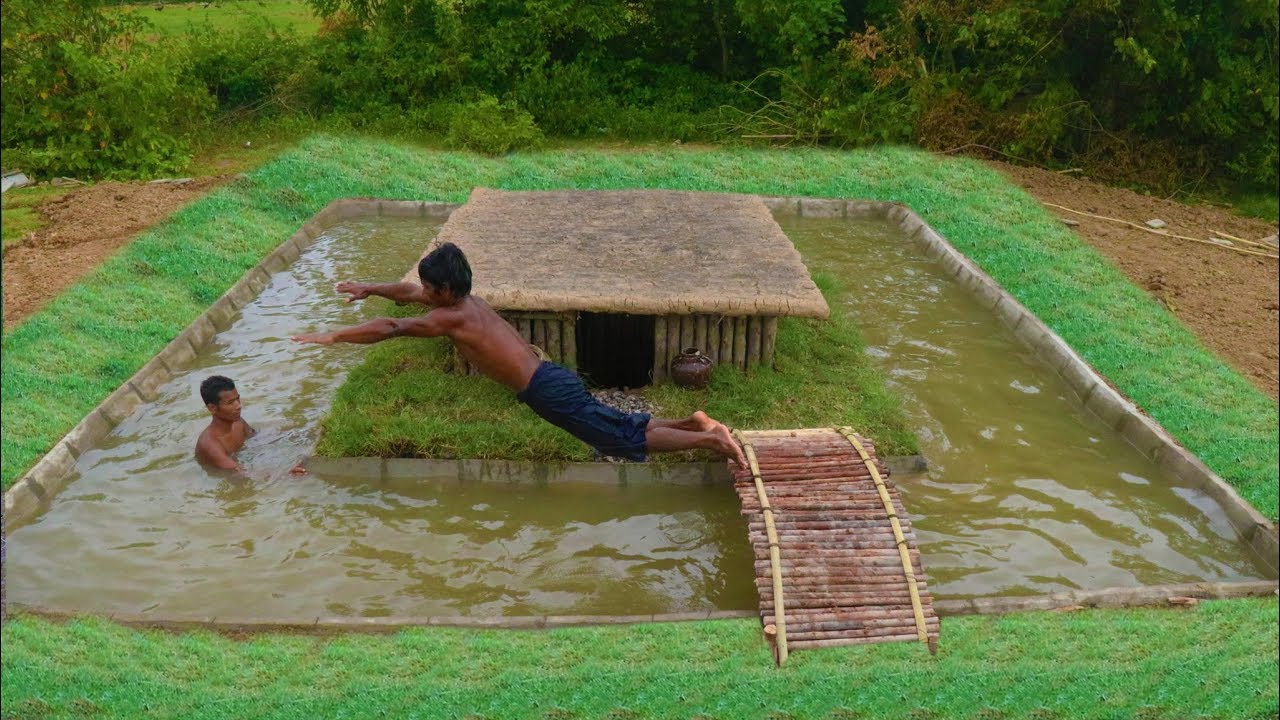 Unbelievable Build Swimming Pool Around Secret Underground House - Unusual-swimming-pools-around-the-world