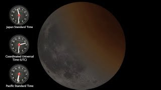 Total Lunar Eclipse - 31 January, 2018 (Wednesday) Simulation