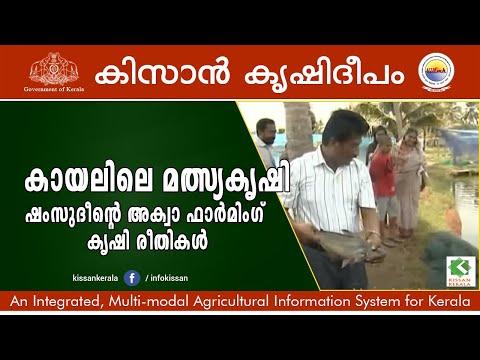 Aqua farming practices by sri. Shamsudheen, Kollam-532