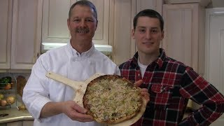 How To Cook A Truly Authentic Italian Pizza From Scratch - Pesto And Shrimp Seafood Pizza
