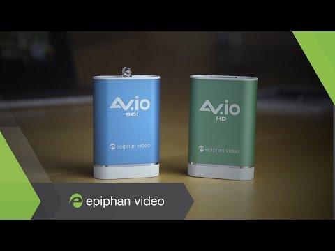 AV.io video grabbers - HDMI, SDI, DVI, VGA Video Capture over USB 3.0 - By Epiphan Video
