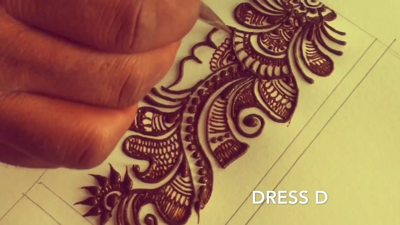 Mehndi Designs Class : Learn long arabic mehndi design step by for