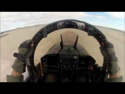 F/A-18C RTB To NAS Fallon And Shutdown.