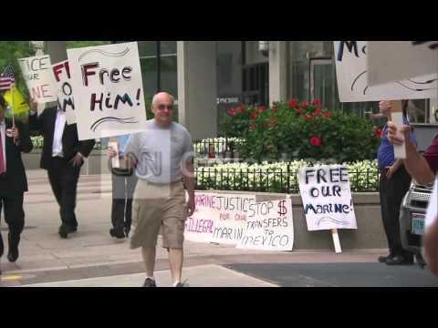 DC:PROTEST AT MEXICAN EMBASSY FOR JAILED MARINE