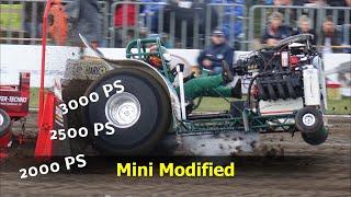 #777 Tractor Pulling Mini Modified 0,95t extreme sport Füchtorf trektocht