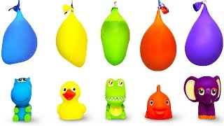 Learn Colours With Funny Animals Toys Balloons