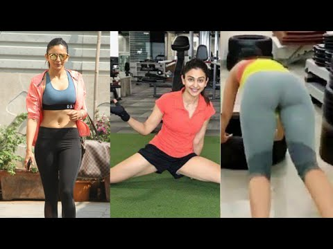 #Bollywood #Hot Rakul Preet Hot Workout In Gym