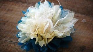 Шикарный цветок из ткани быстро и легко).  Мастер класс для взрослых и детей