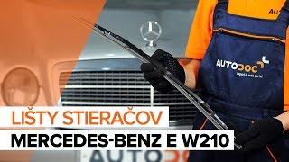 Videá k svojpomocnej oprave auta a rady pre MERCEDES-BENZ Trieda E
