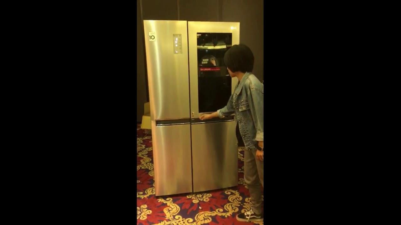 LG【敲敲門冰箱】 - YouTube