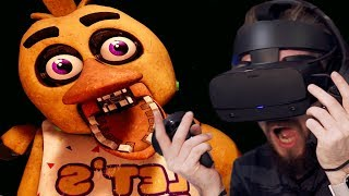 They're SO Scary Up Close in Five Nights At Freddy's VR (FNAF VR) - Part 2