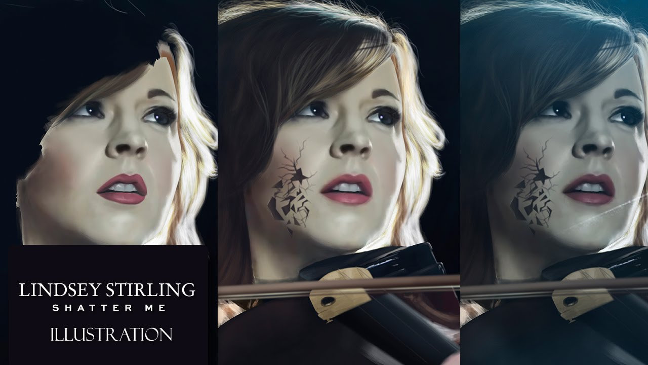 Digital Drawing Shatter Me Featuring Lzzy Hale - Lindsey Stirling Poster