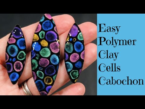 Creating Cells Cabochon Jewelry Step By Step Polymer Clay And UV Resin Tutorial