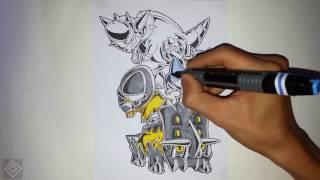 All Generation 4 Fossil Pokemon - Speed Drawing | Labyrinth Draw