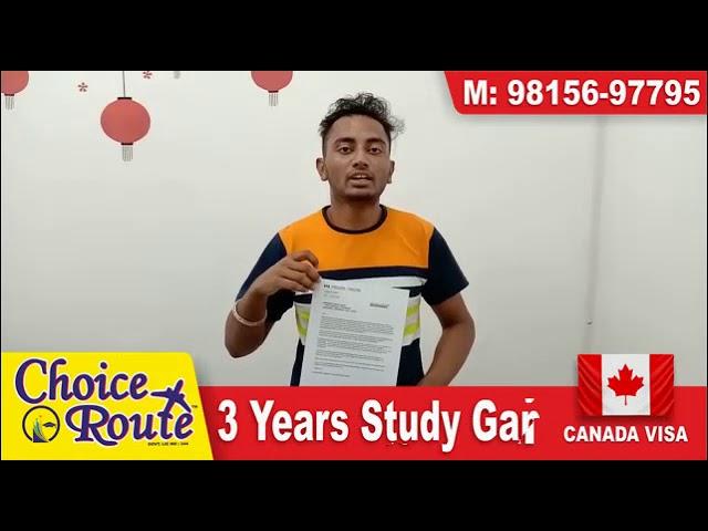 Congrats Mandeep Singh !! PTE ਦੇ ਨਾਲ CANADA ਦਾ ਇਕ ਹੋਰ ਵੀਜ਼ਾ Choice Route ਵੱਲੋਂ , 3 Years Study Gap