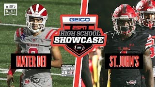 Mater Dei (CA) vs. St. John's College (DC) Football - ESPN Broadcast Highlights