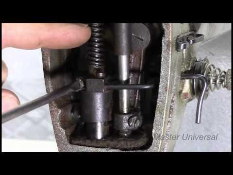 Швейная машина 1022 класса. Регулировка лапки и игловодителя.Часть 3.Видео №40.