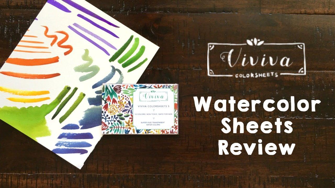 watercolor review viviva colorsheets - Colorsheets